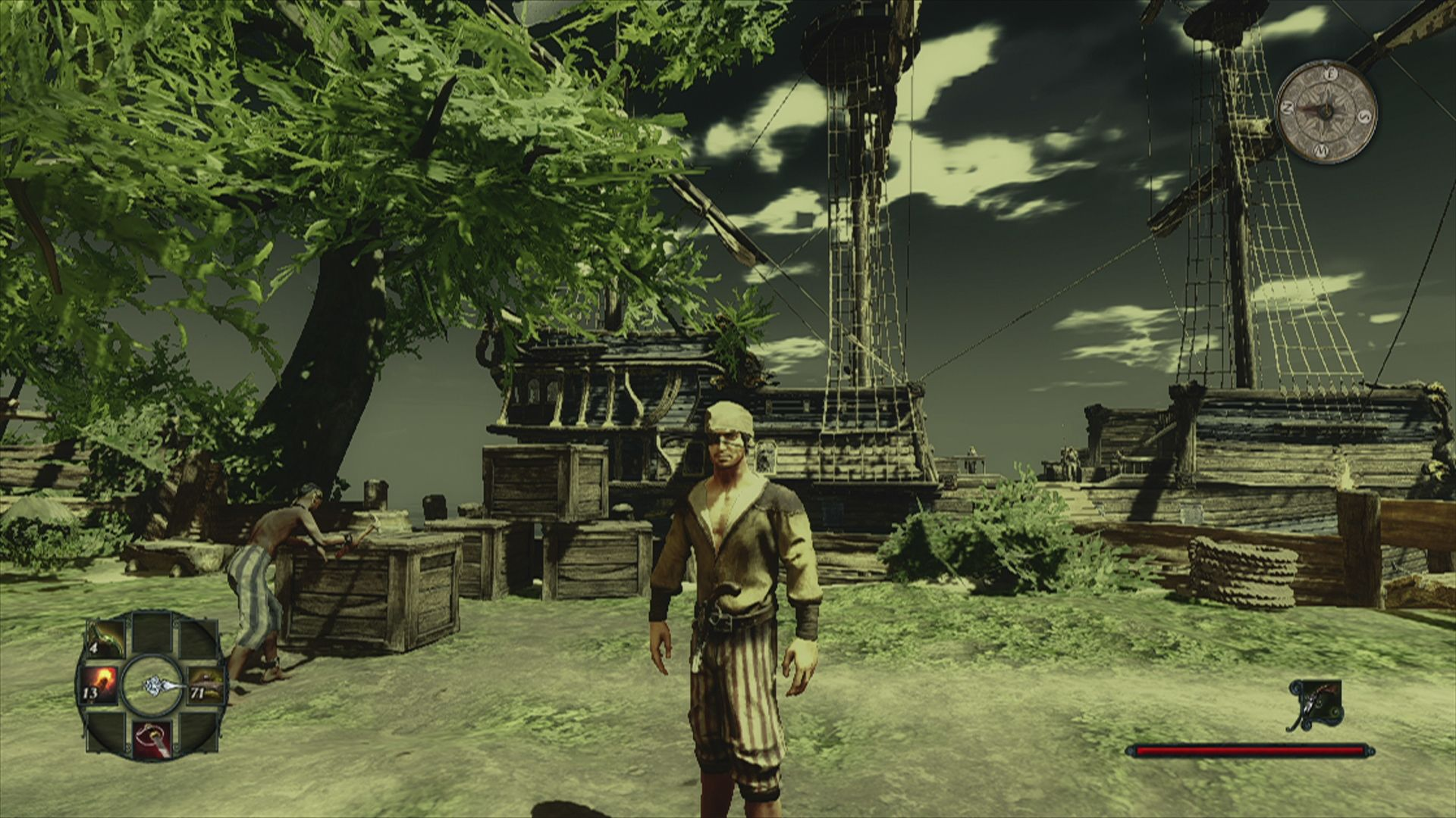 Risen 2: Dark Waters Xbox 360 The port of a town of the second faction