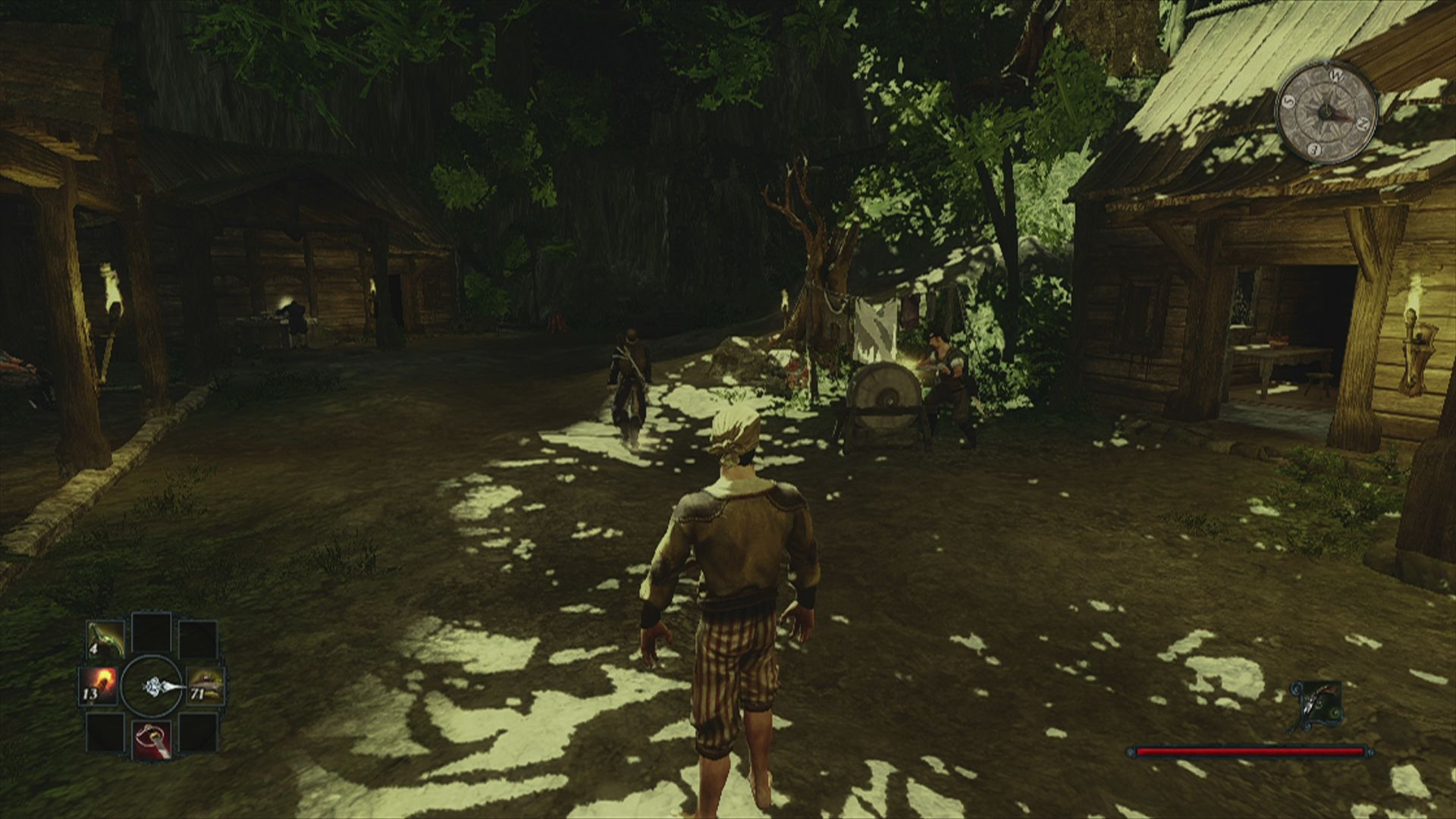 Risen 2: Dark Waters Xbox 360 And the local smith sharpening weapons as in every single Gothic game