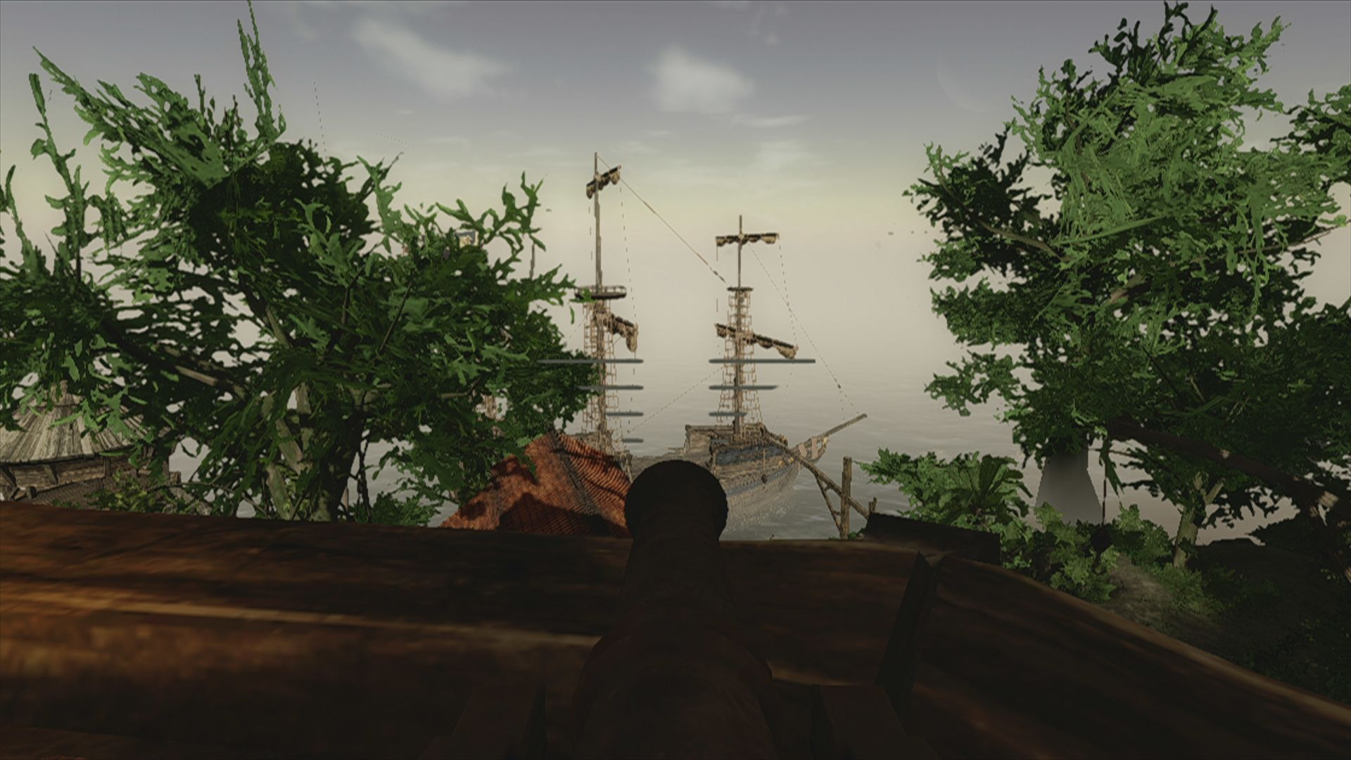Risen 2: Dark Waters Xbox 360 and here we are aiming at it with the stationary cannon