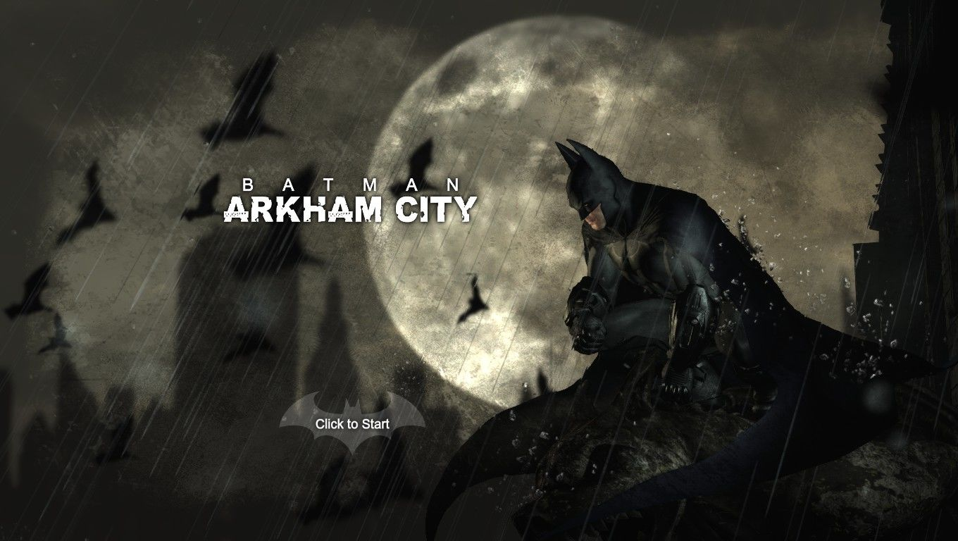 Batman: Arkham City Windows Title Screen