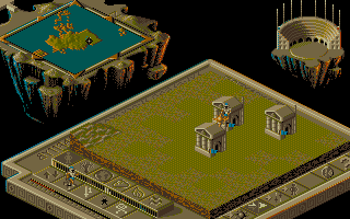Populous II: Trials of the Olympian Gods Amiga Playing God.