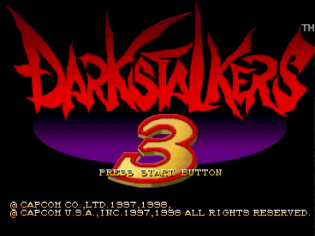Darkstalkers 3 PlayStation Title screen