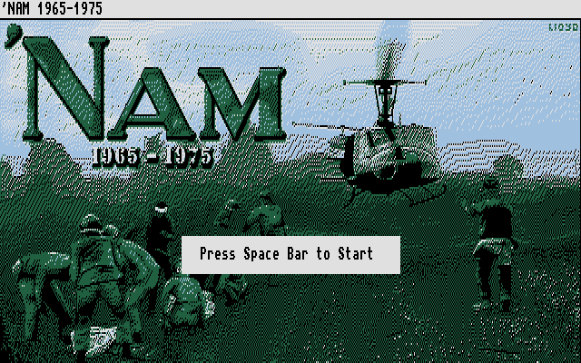 'Nam 1965-1975 Atari ST Title screen.