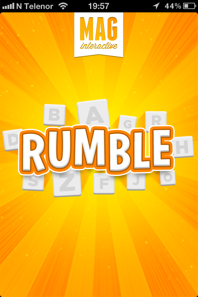 Ruzzle iPhone Loading screen, before name change