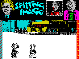 Spitting Image: The Computer Game ZX Spectrum Let's fight.
