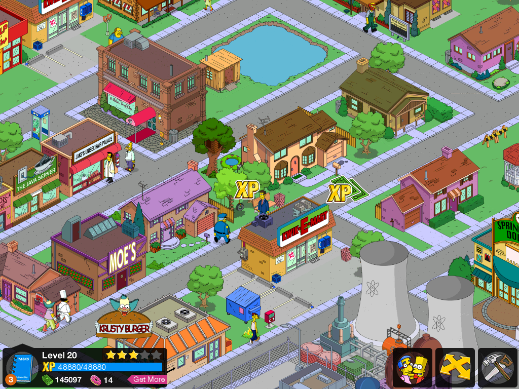 The Simpsons: Tapped Out iPad Level 20