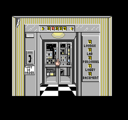 Where in Time Is Carmen Sandiego? NES The elevator in the Acme Detective Agency... head to Personnel on the 2nd floor to begin your game