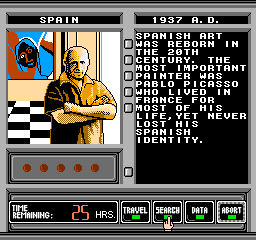 Where in Time is Carmen Sandiego? NES ... and then head to Spain in a different era...
