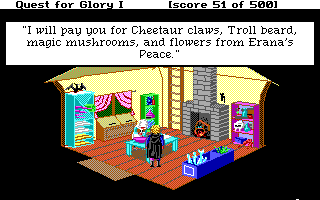 Hero's Quest: So You Want To Be A Hero DOS The healer's hut - a personal opinion: it looks much better in the EGA version
