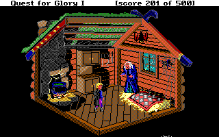 Hero's Quest: So You Want To Be A Hero DOS Baba Yaga's hut (inside)