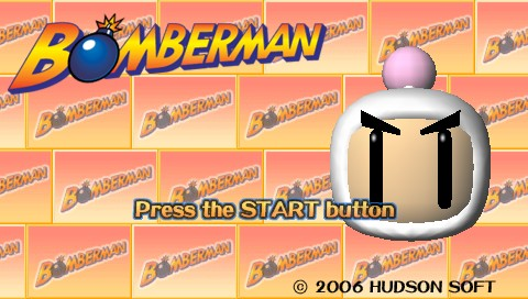 Bomberman PSP Title screen
