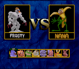 Clay Fighter 2: Judgement Clay SNES Character select screen [without extra characters]