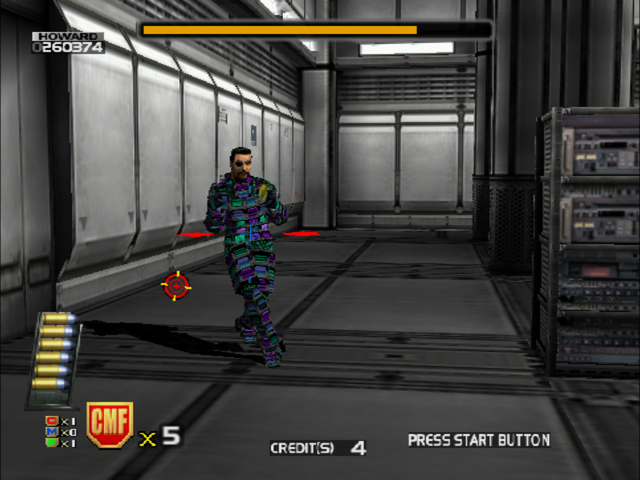 Confidential Mission Dreamcast End Boss has an invisibility suit