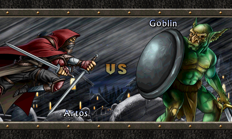 Puzzle Quest 2 Android Going up against a goblin