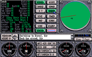 Sub Battle Simulator Amiga Check the sub stats and see if anything is near with radar