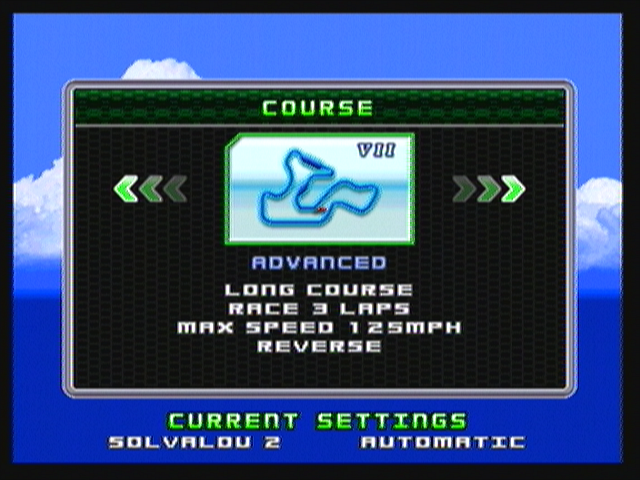Ridge Racer Zeebo After beating all four courses, their reverse versions are unlocked, like this advanced one.