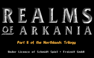 Realms of Arkania: Star Trail DOS Opening Title