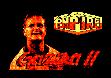 Gazza II Amstrad CPC Loading screen.