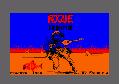 Rogue Trooper Amstrad CPC Loading screen.