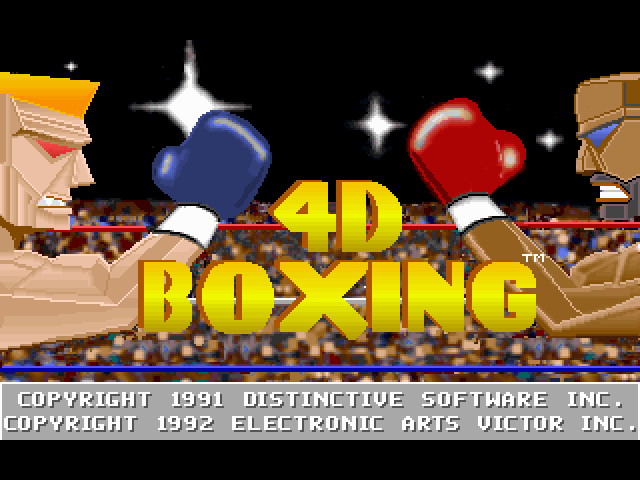4-D Boxing FM Towns Title screen