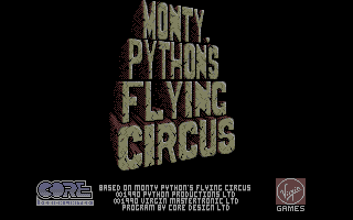 Monty Python's Flying Circus Atari ST Title screen.