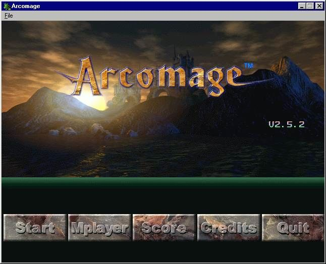 Arcomage Windows Title screen