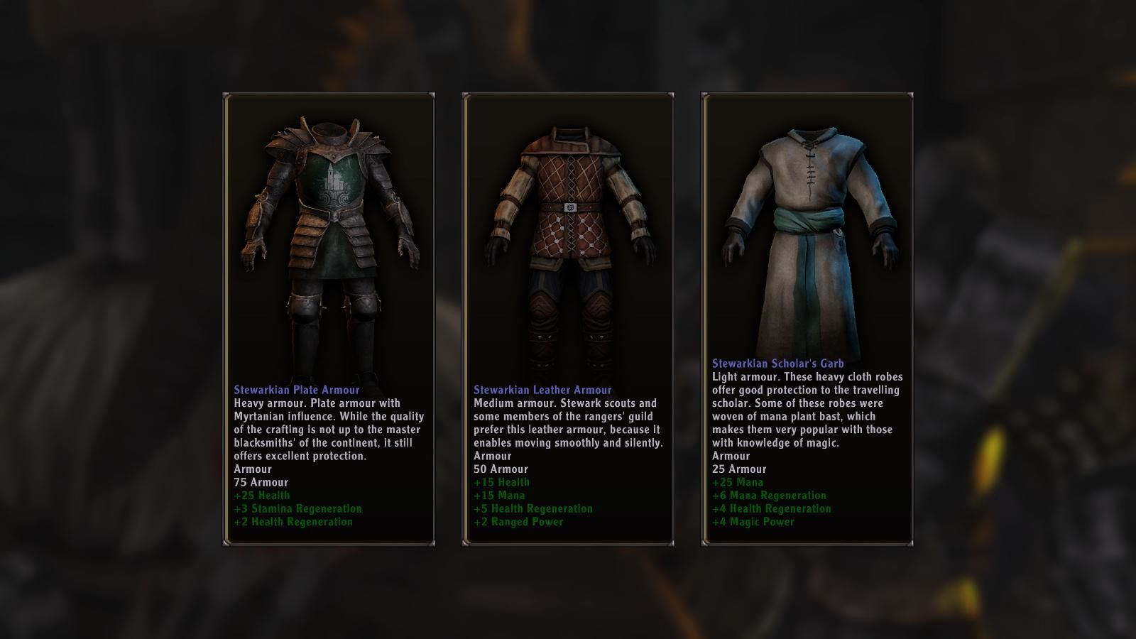 ArcaniA: Gothic 4 Windows You get three opportunities in the whole game to choose your desired armor between warrior armor, rogue armor and mage armor.