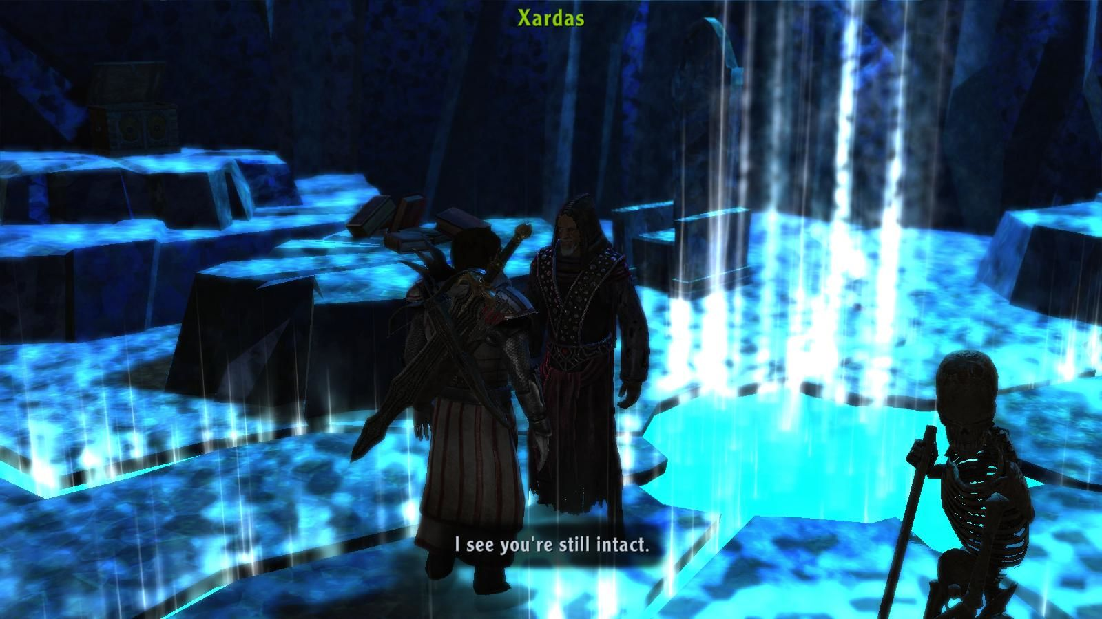 ArcaniA: Gothic 4 Windows Xardas still uses a skeleton servant.