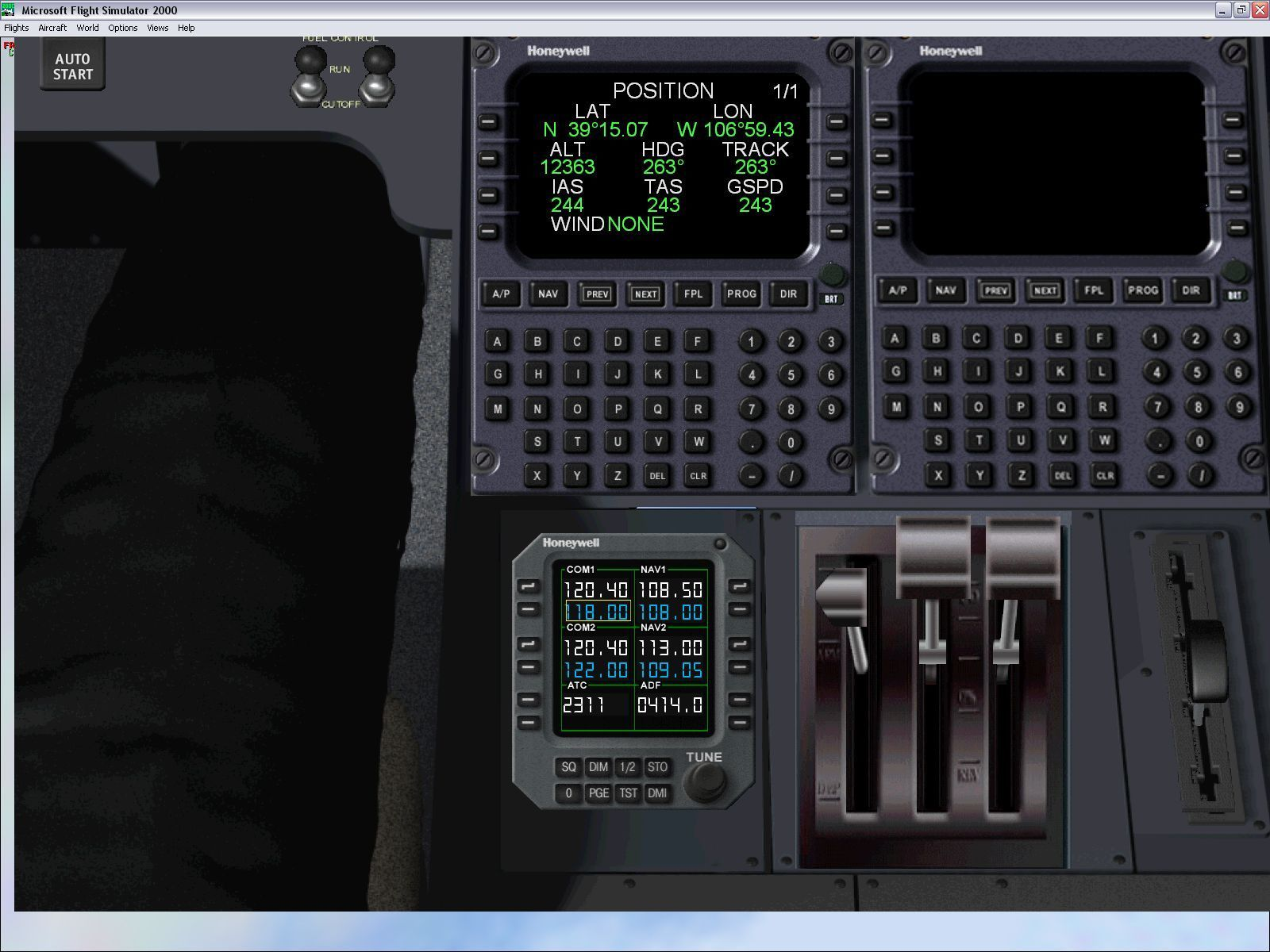 Executive Windows The Cessna Citation X, the overhead panel view