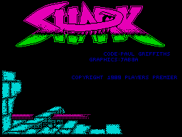 Shark ZX Spectrum Loading screen.