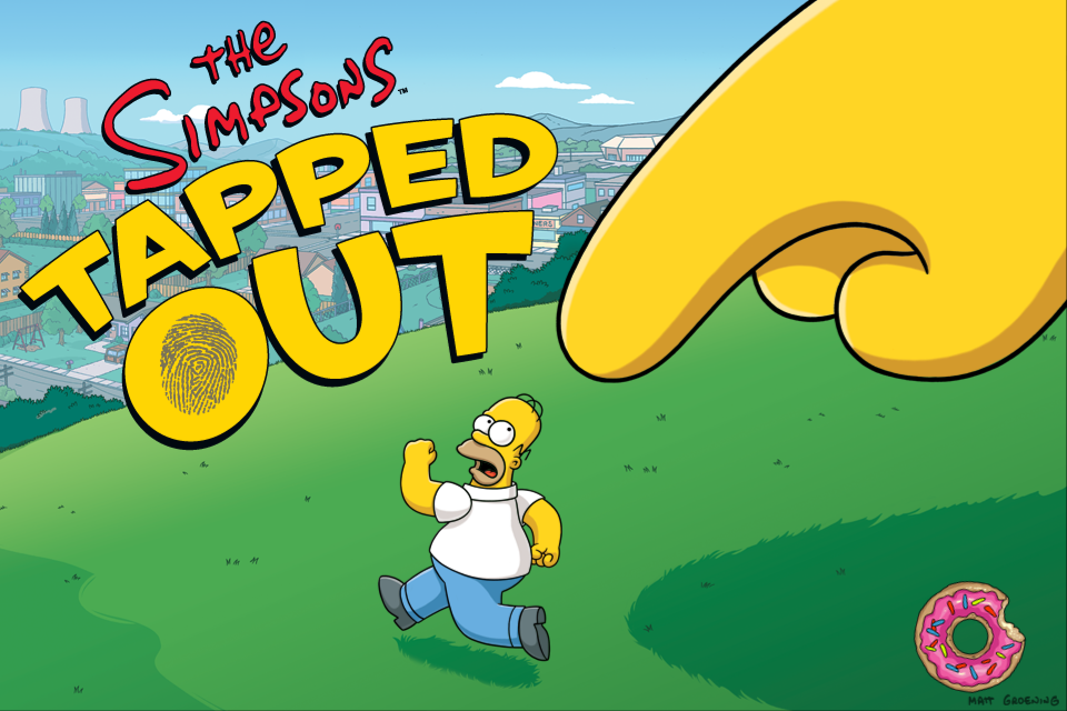 The Simpsons: Tapped Out iPhone Splash screen / loading screen