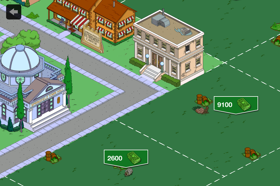 The Simpsons: Tapped Out iPhone Expanding Springfield