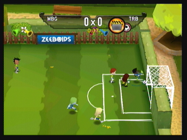 Zeebo F.C. Super League Zeebo Scoring a goal!