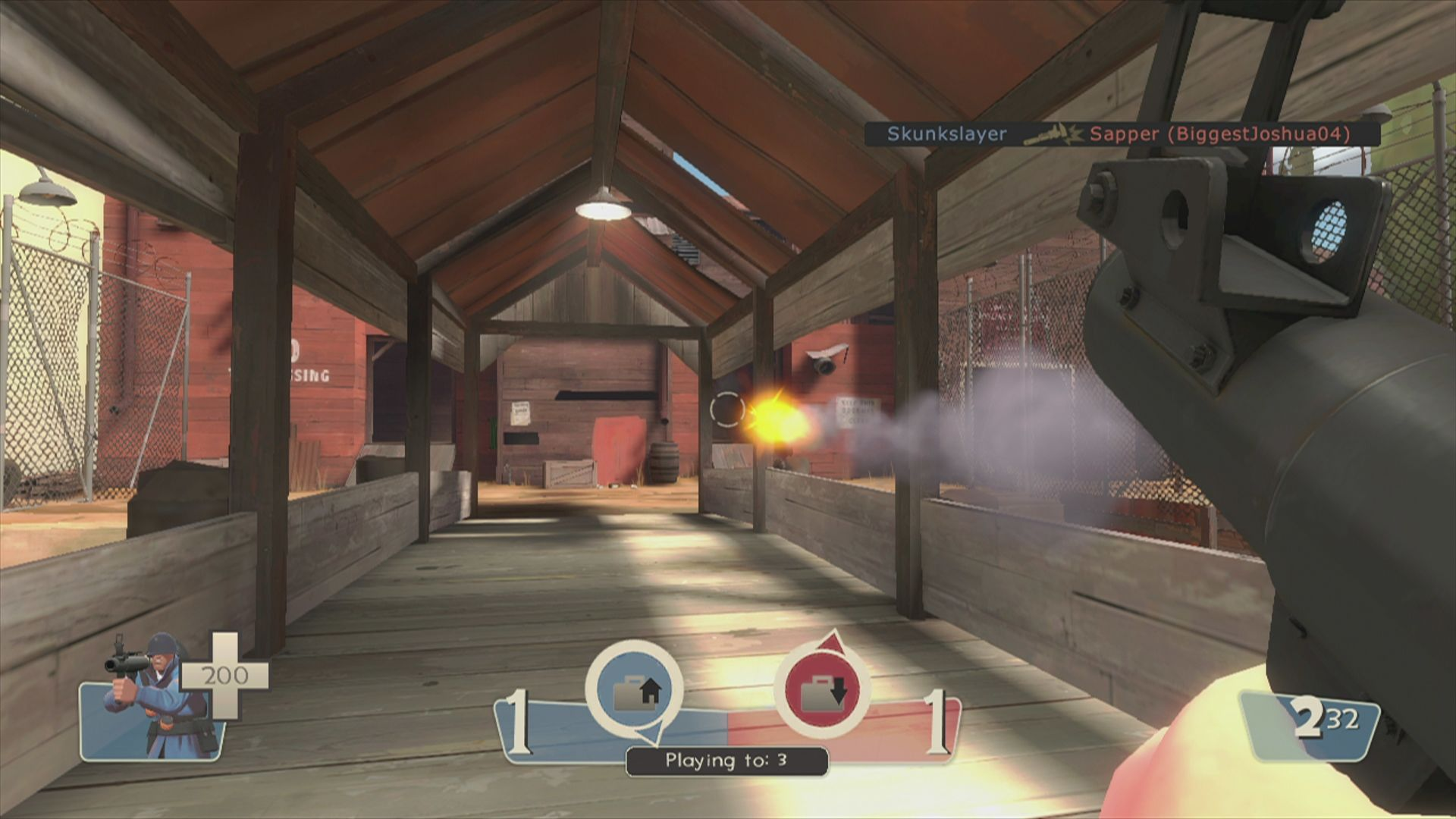 The Orange Box Xbox 360 <i>Team Fortress 2</i>: you will cross this bridge a lot. Make sure to have your weapon ready.