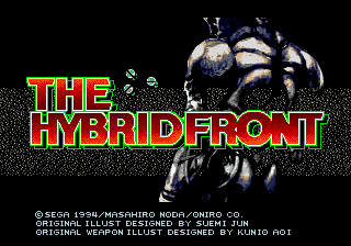 The Hybrid Front Genesis Title screen