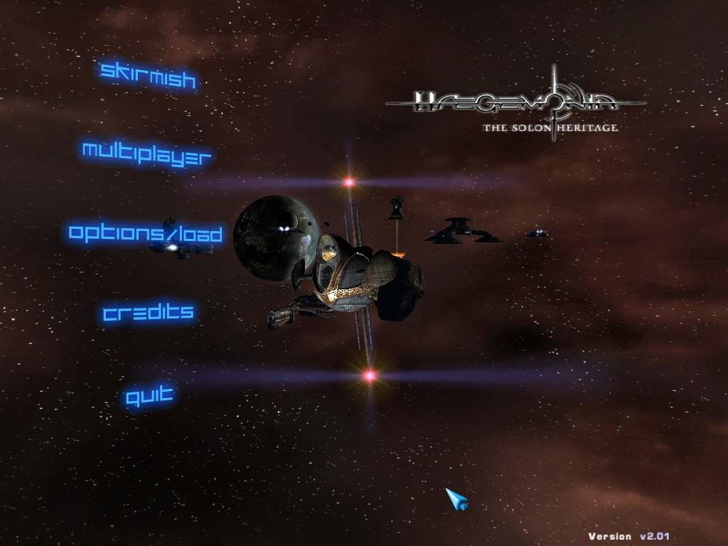 Hegemonia: The Solon Heritage Windows Main menu complete with probe navigator