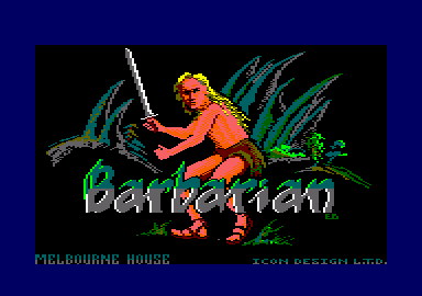 Barbarian Amstrad CPC Loading screen.