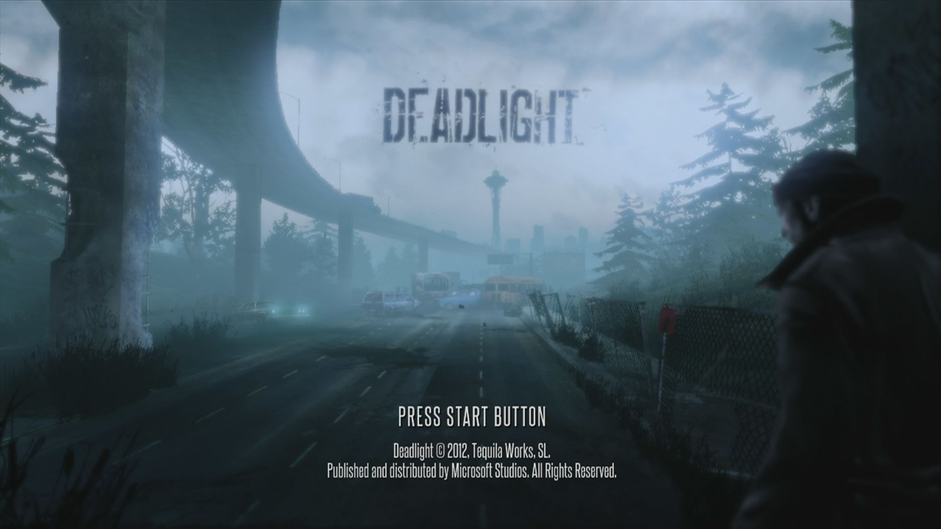 Deadlight Xbox 360 Start screen