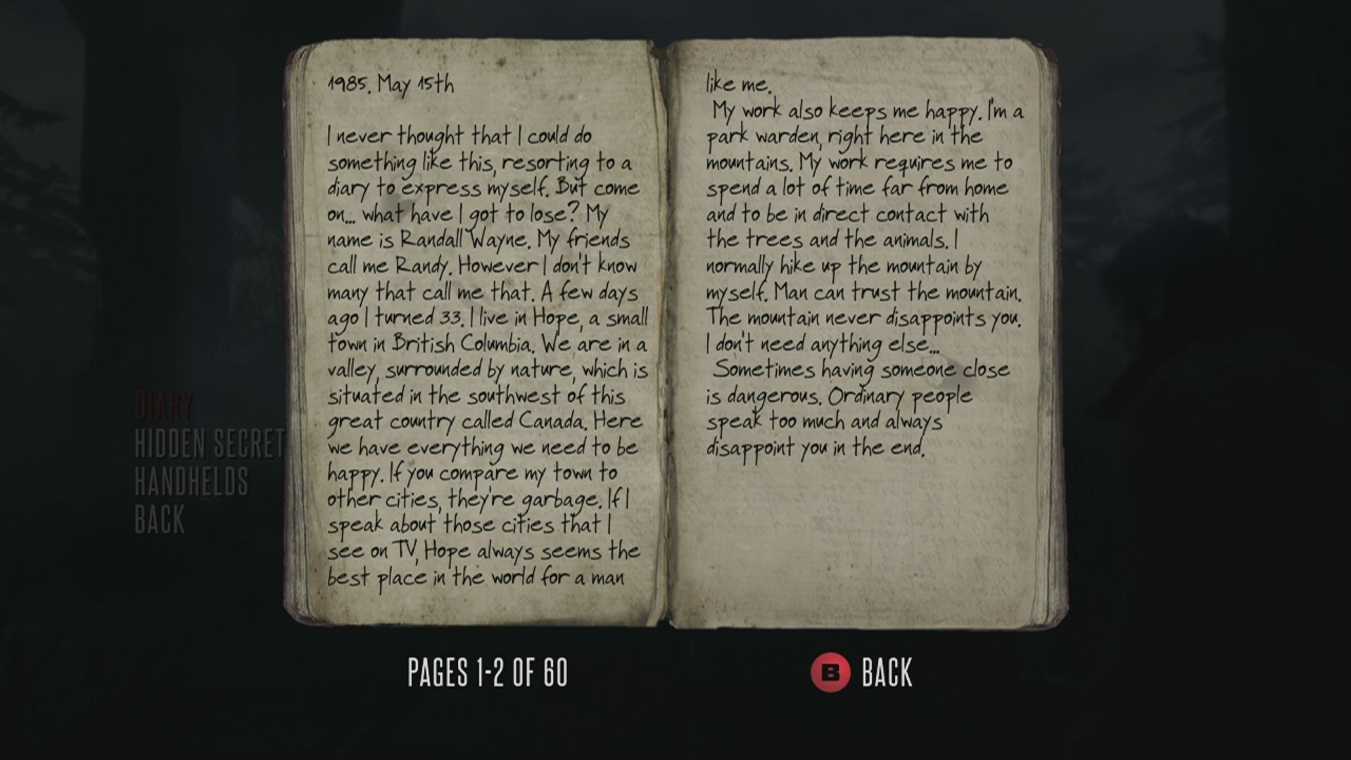 Deadlight Xbox 360 Your diary, which describes some of the events in the past