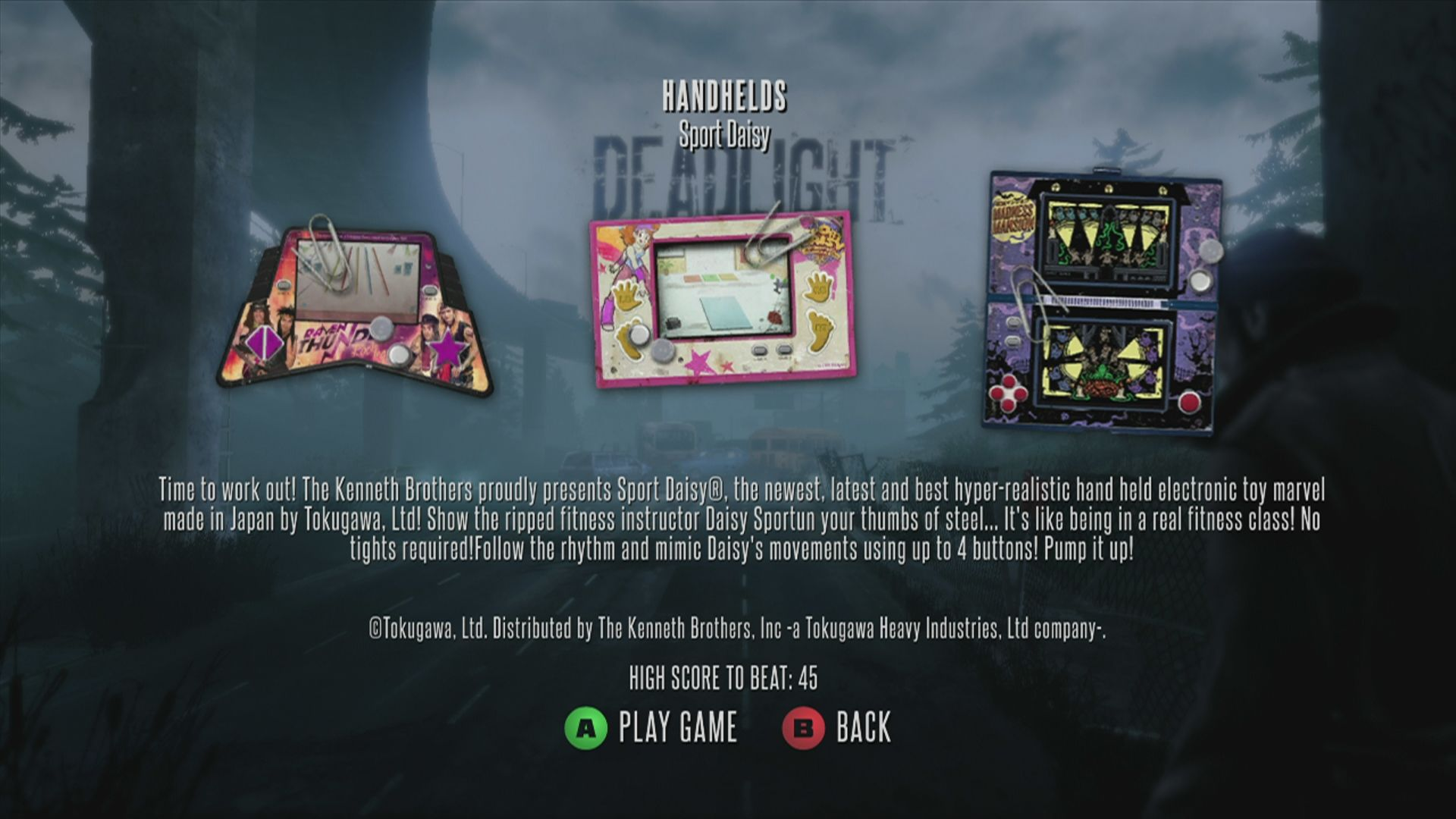 Deadlight Xbox 360 As this plays in the 80s, you can find some mini games which look from this time