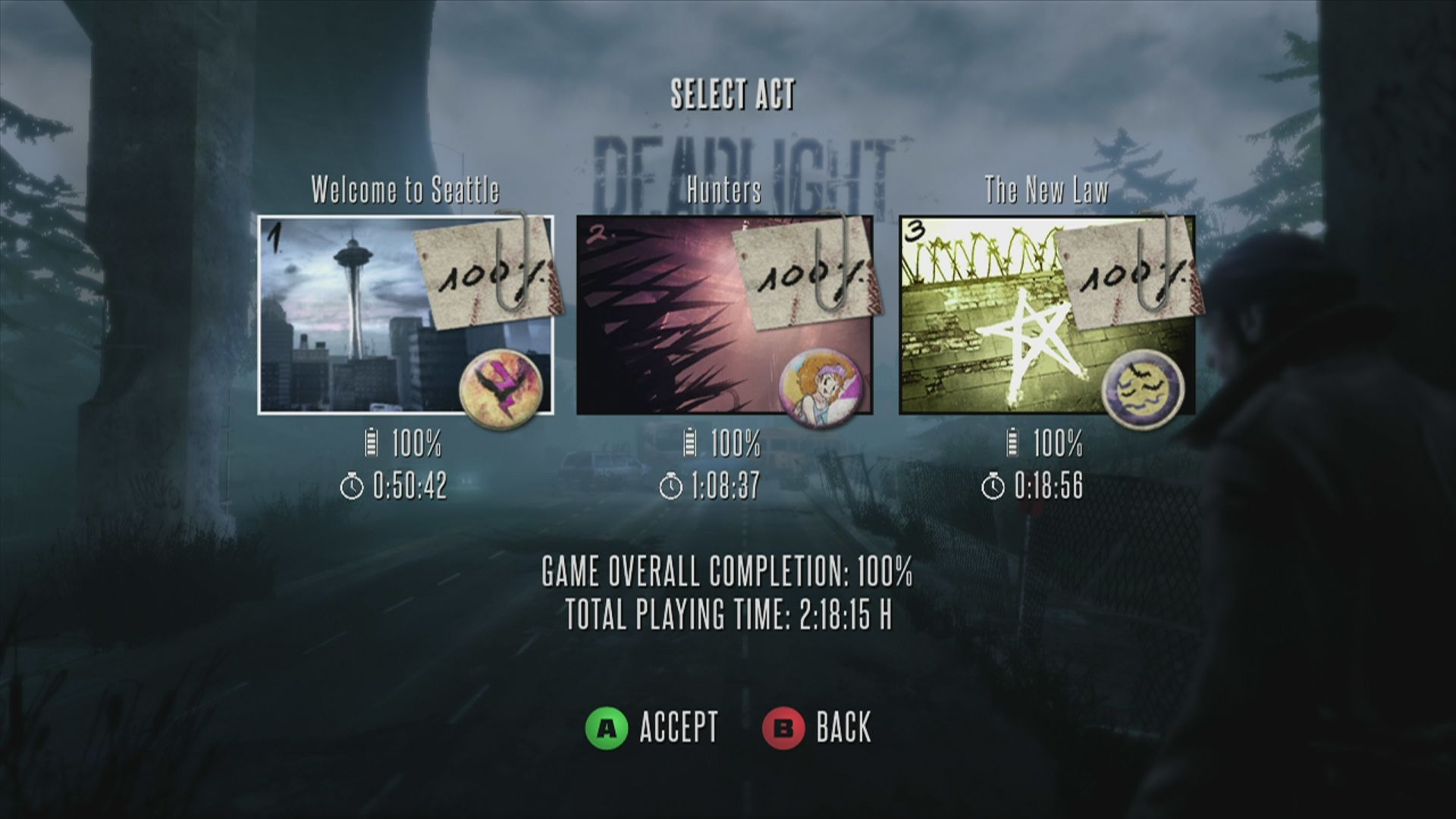 Deadlight Xbox 360 The game is divided into three acts