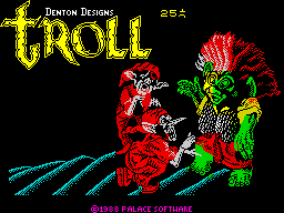 Troll ZX Spectrum Loading screen.