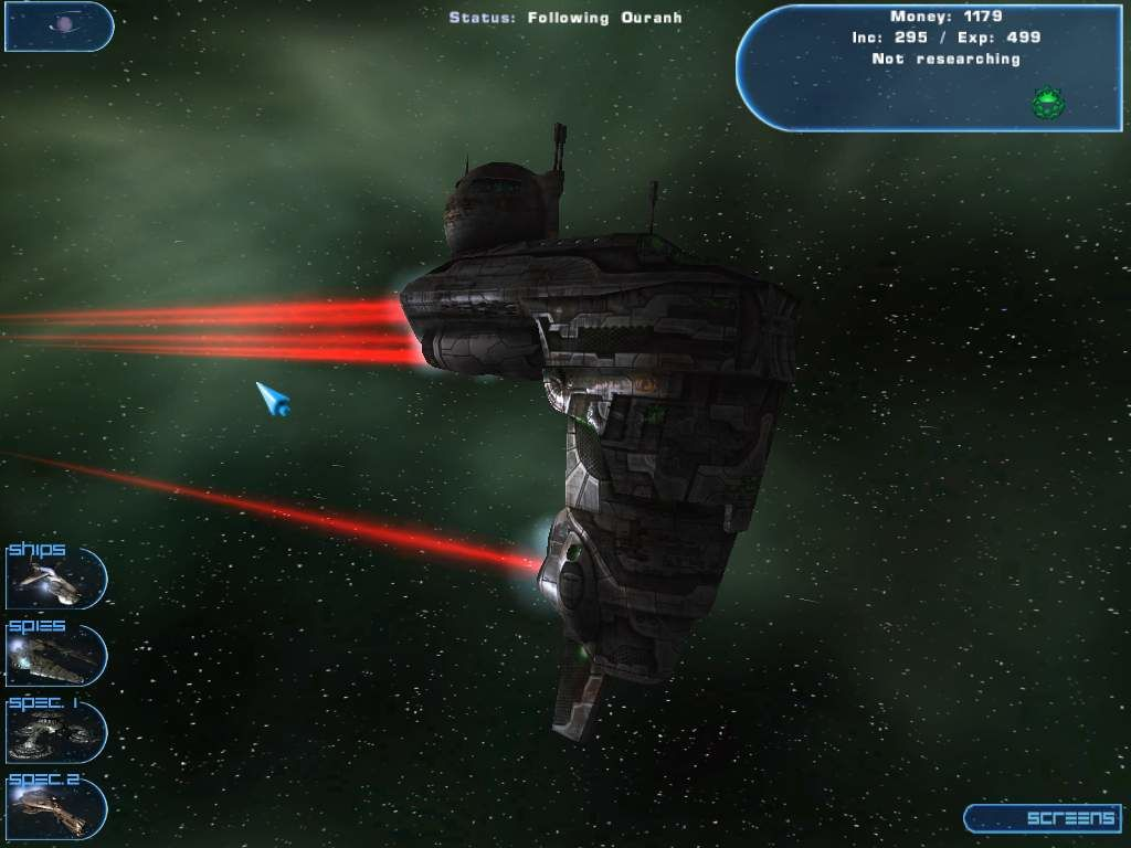 Hegemonia: The Solon Heritage Windows A functional Colonization ship. The red flare behind the ship represents the empire