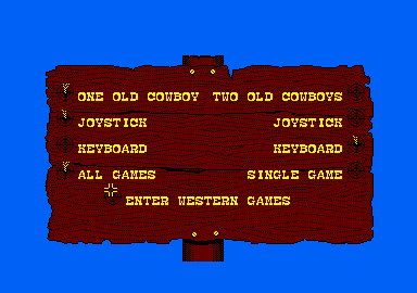 Western Games Amstrad CPC Options.