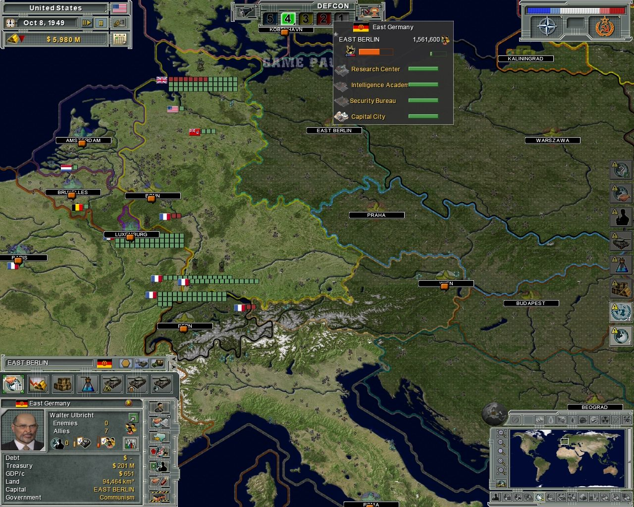 Supreme Ruler: Cold War Windows Central Europe can be quite explosive.