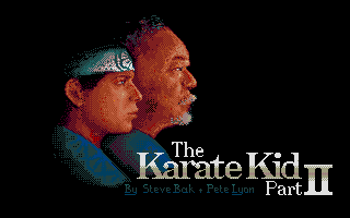 The Karate Kid: Part II - The Computer Game Atari ST Loading screen.