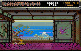 The Karate Kid: Part II - The Computer Game Atari ST Knock down.