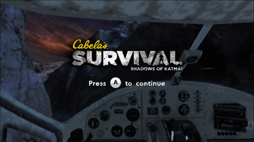 Cabela's Survival: Shadows of Katmai Wii Title screen