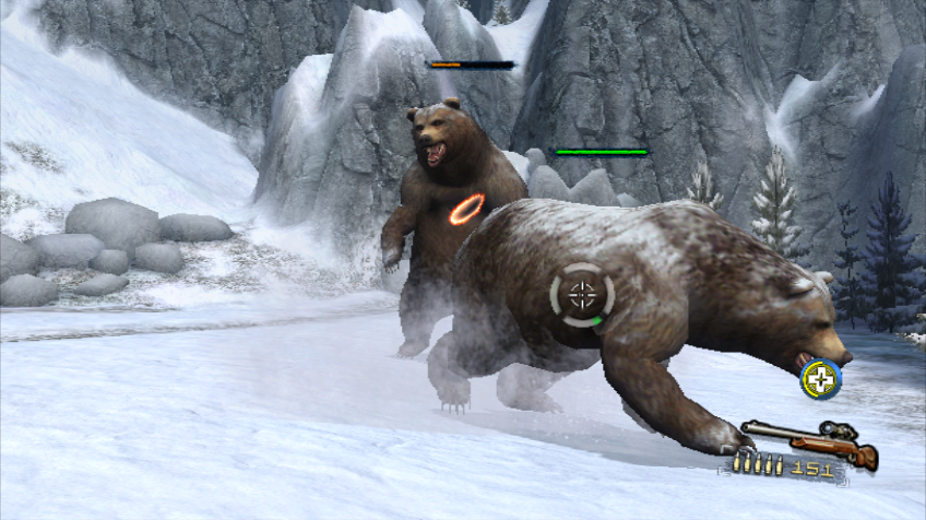 Cabela's Survival: Shadows of Katmai Wii A fight with 2 bears