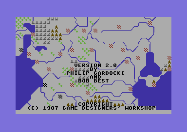 Road to Moscow Commodore 64 Title screen (Version 2.0)